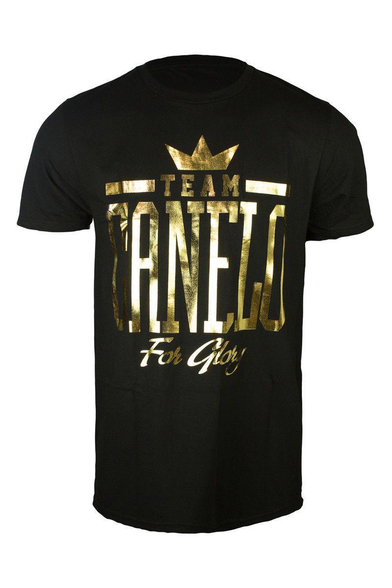 T Shirts 15687 Canelo Alvarez For The Glory Black T Shirt W Gold