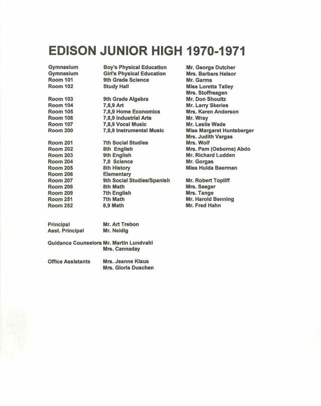Some Of The Names Are Different When I Was There Math Dunkerton Vice Principal Garvin Junior High Vice Principals Home Economics