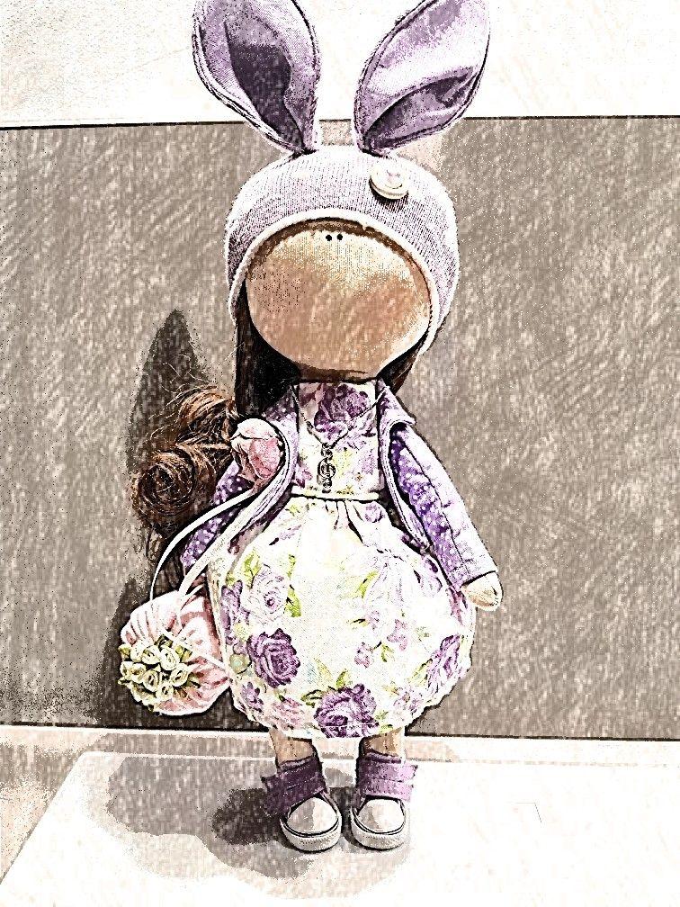 Bambola handmade texitile