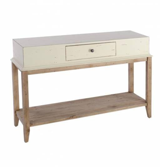 Consola en color crema para tu recibidor. Un mueble diseñado bajo ...