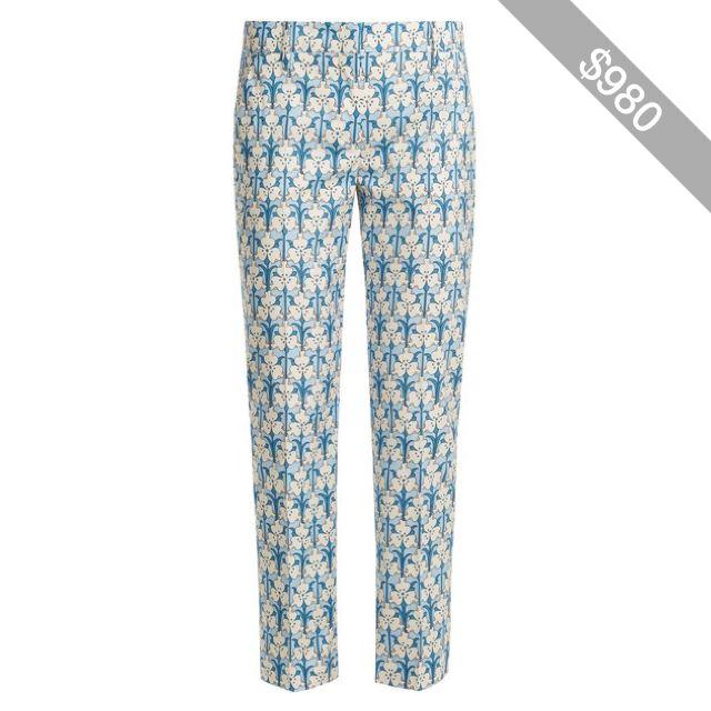 Cotton poplin trousers Prada OcVdKKnwMs