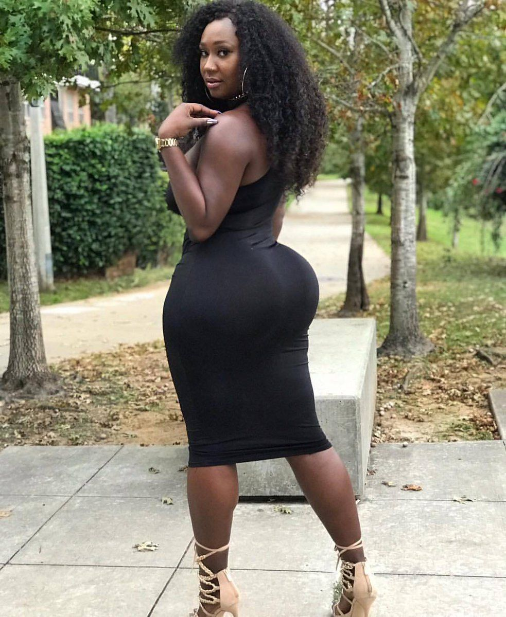 Not ebony tight skirt ass