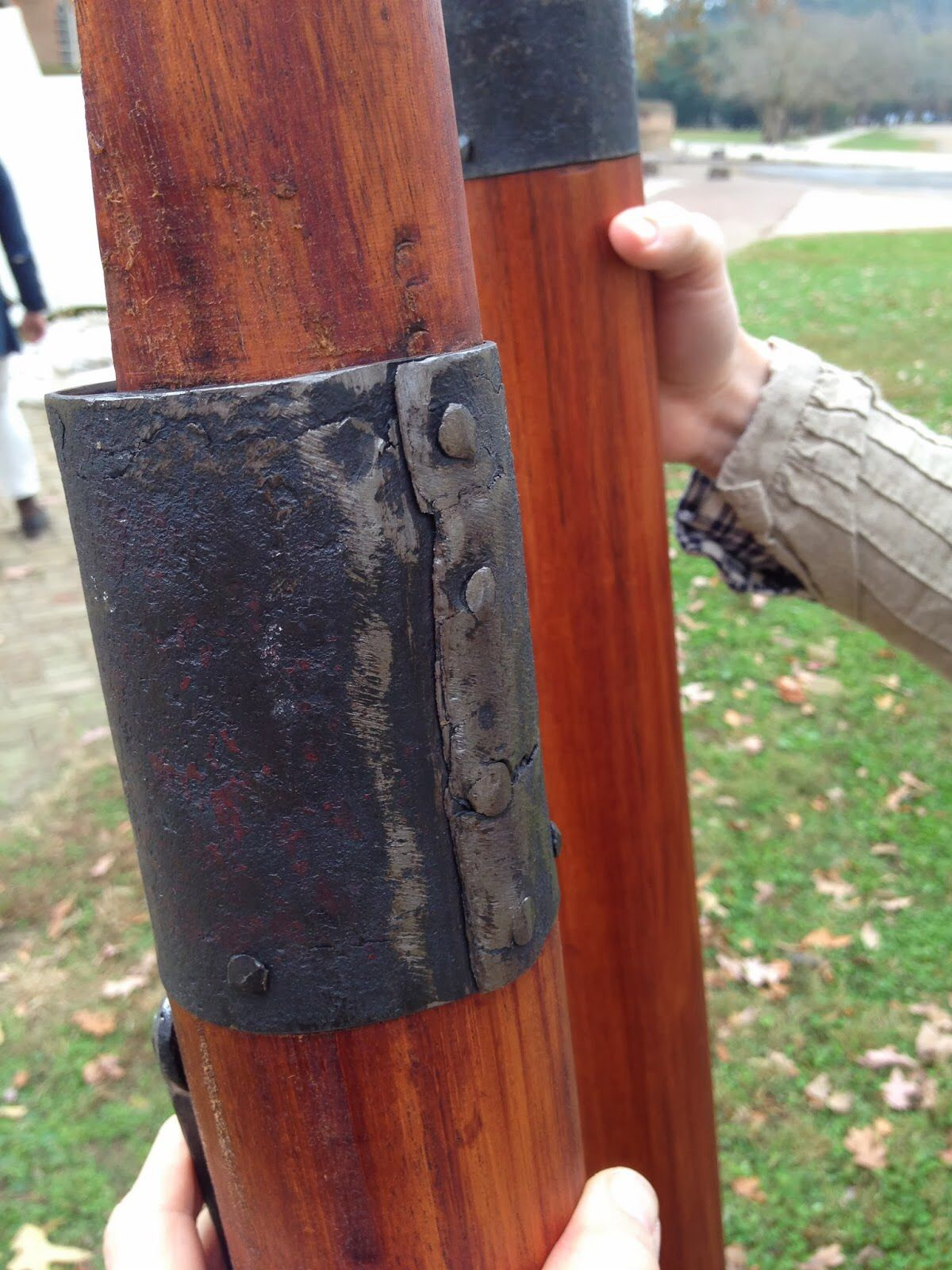 George Washingtonu0027s reproduction tent pole. To connect the two scarf joints a metal sleeve wrapped & George Washingtonu0027s reproduction tent pole. To connect the two ...