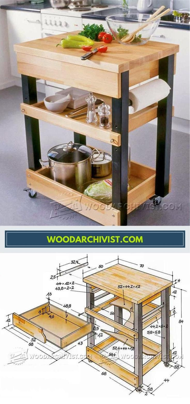 Kitchen Cart Plans Furniture Plans And Projects Woodarchivist Com Woodworking Plans Kitchen Diy Kitchen Cart Woodworking Furniture Plans
