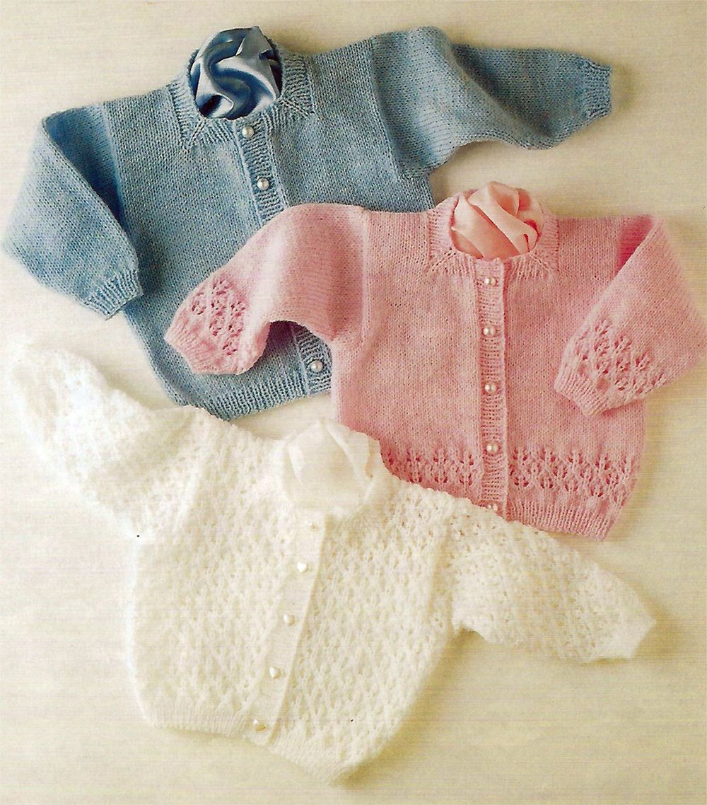 PDF Instant Digital Download premature baby doll 3 cardigans 4 ply ...