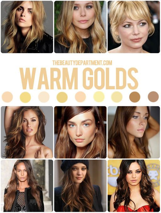 Hair Color Guide Warm Gold Hair Color Guide Perfect Hair Color Hair Color Shades