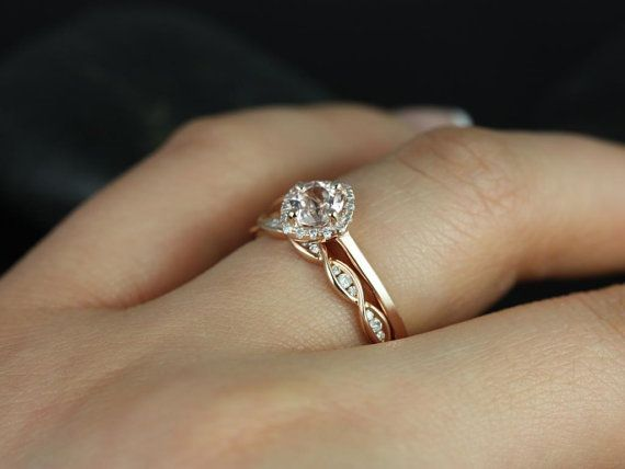 Simple Engagement With Braided Wedding Band Reminding Me Of The 3 Chords Becoming One