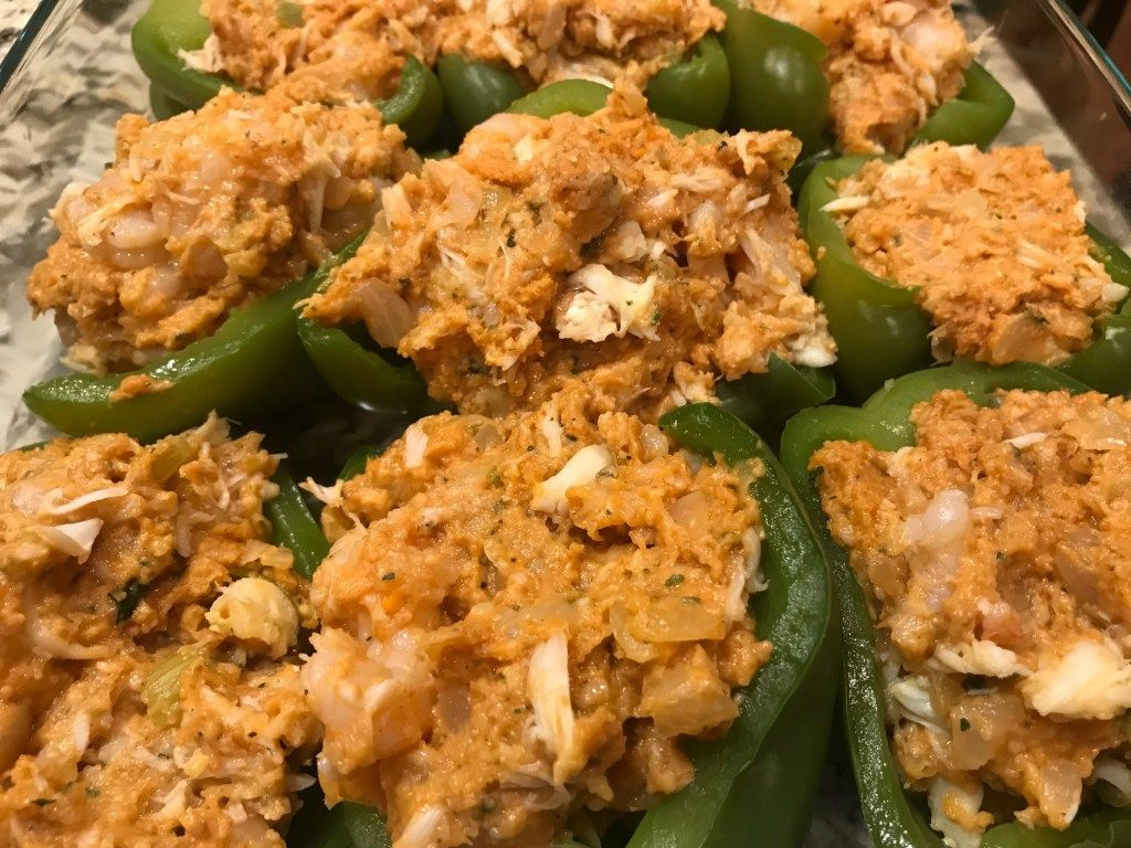Seafood Stuffed Bell Pepper Recipe Fitness And Festivals Recipe Bell Pepper Recipes Stuffed Peppers Peppers Recipes