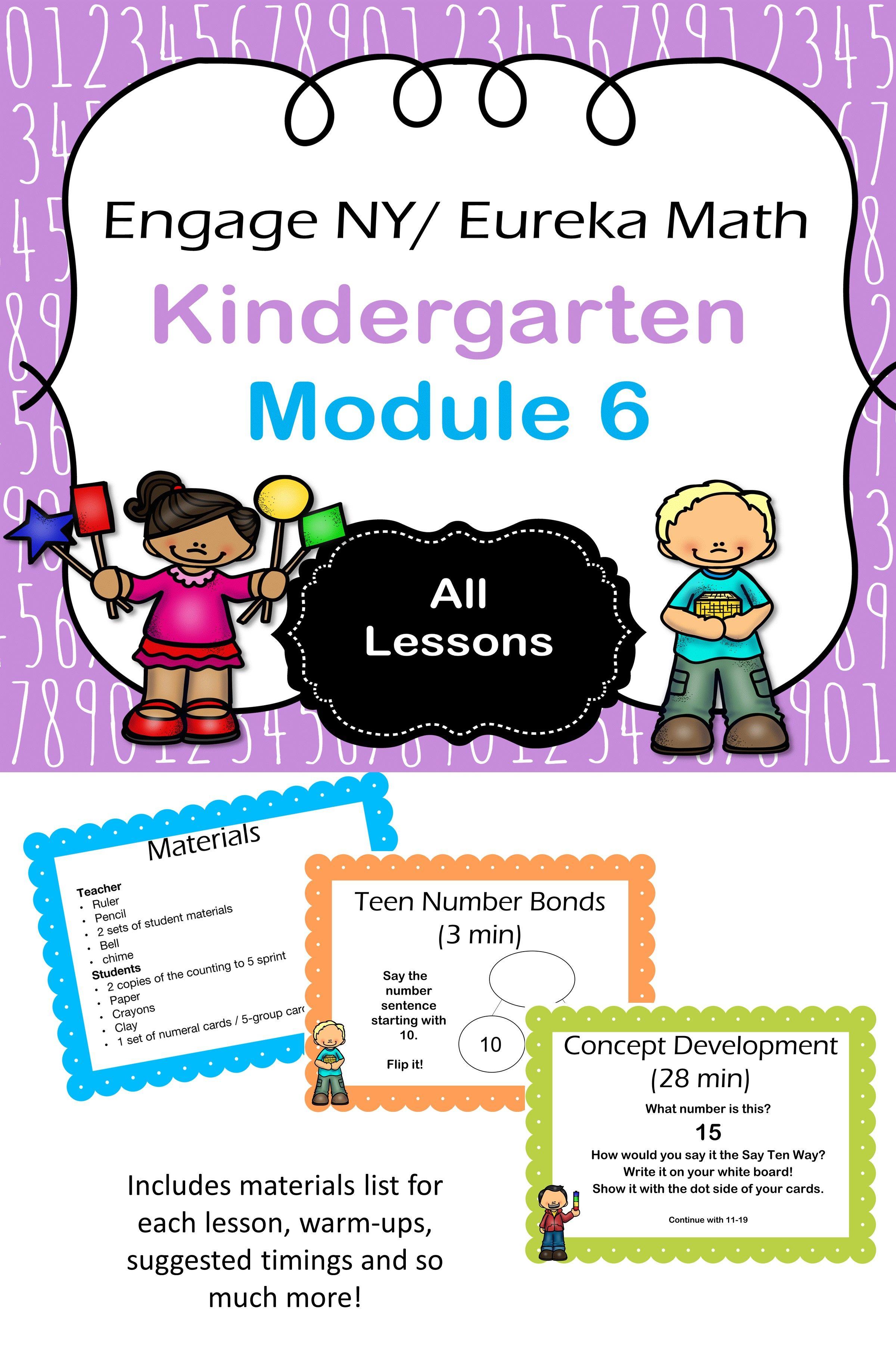 Eureka Math Kindergarten Module 6 Complete Set