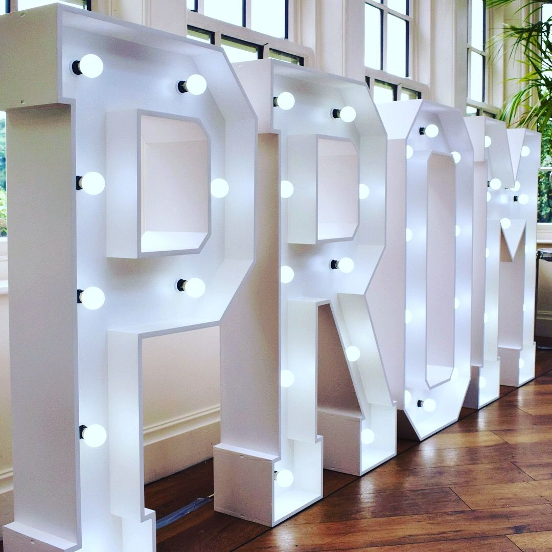 Hire Large Prom Light Up Led Letter Lights Preston Lancashire And Across The North West Region Uk Prom Venues Starry Night Prom Prom Decor