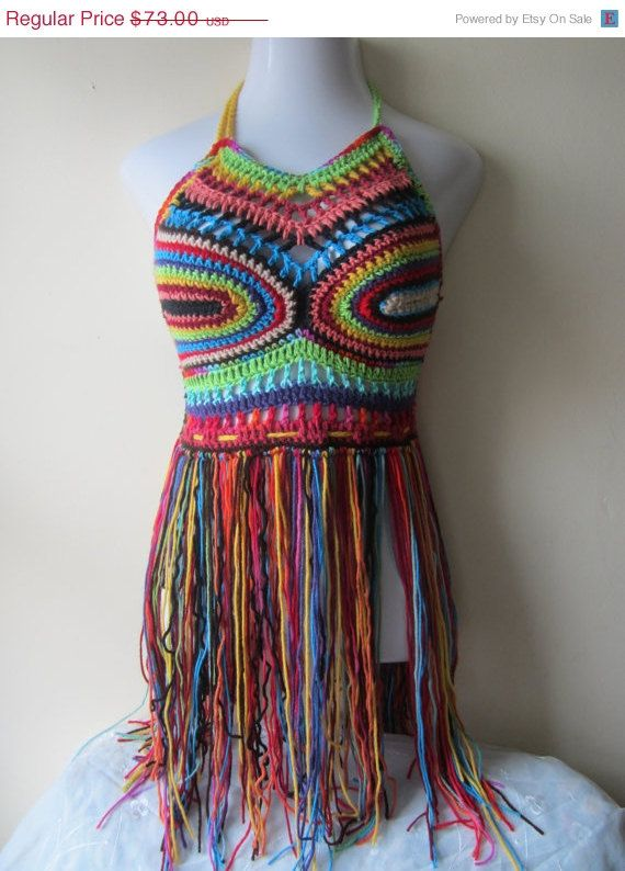 PERFECT FESTIVAL TOP, festival clothing, crochet halter top, gypsy clothing, boho festival top, gift for her, music festival clothing,