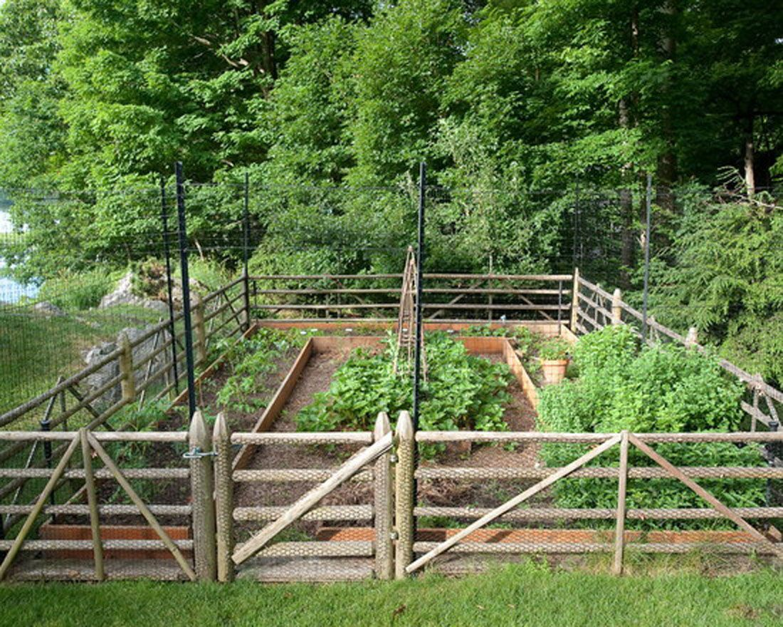 Simple Garden Fence Ideas A traditional low fence can be raised with standard deer wire and scotts cove traditional landscape new york rock spring design group llc david verespy asla i like the deer fencing attached to the rail fence workwithnaturefo