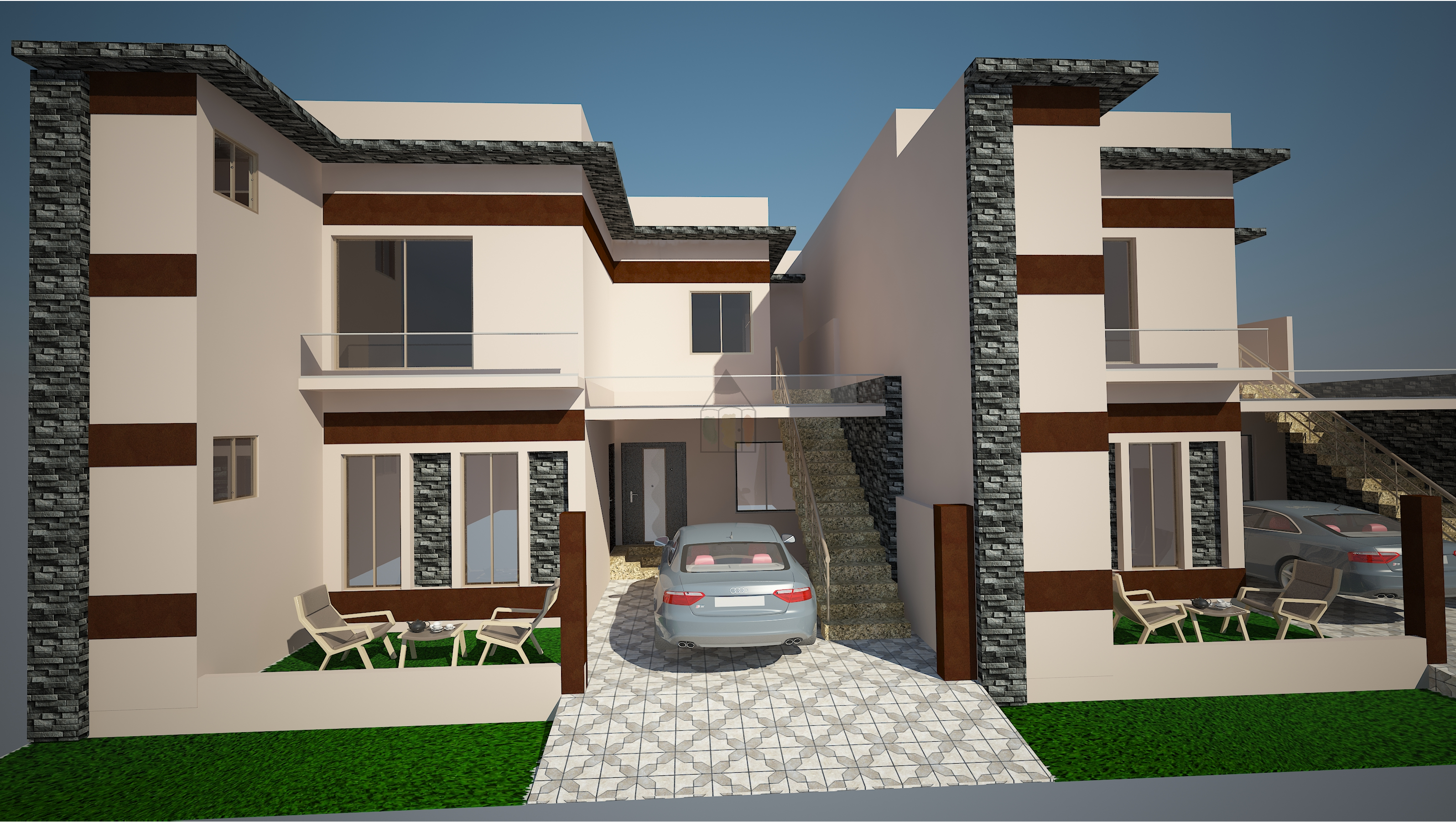 7 Marla House Front Elevation Designs : Marla house design model has bedroom with attached