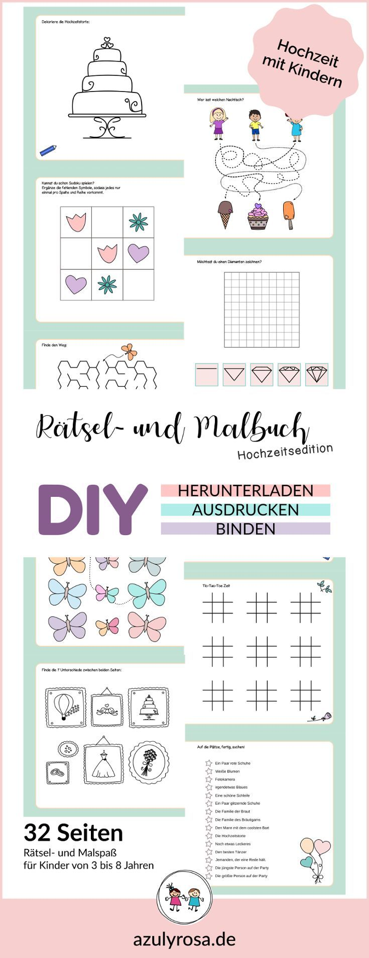 Ratsel Und Malbuch Hochzeitsedition Zum Selber Ausdrucken In 2020 Wenn Du Mal Buch Kinder Auf Der Hochzeit Ratsel Zum Ausdrucken