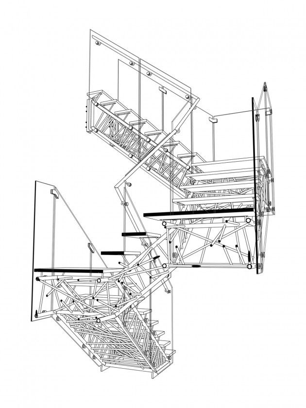 Section Perspective Drawing Of The Digital Model Used During Design