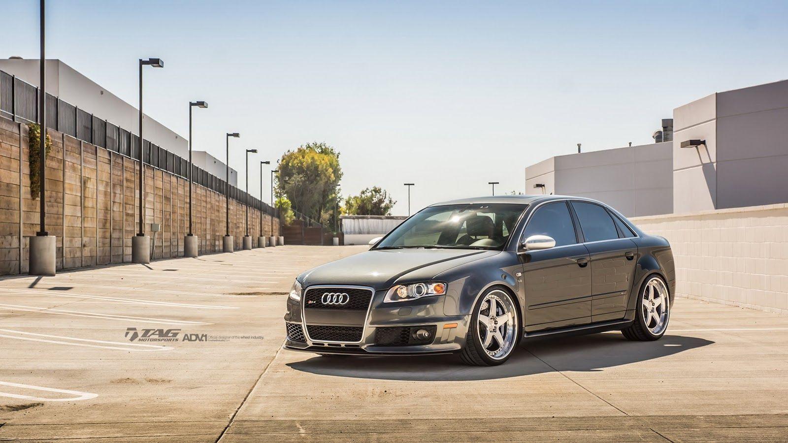 Audi Rs4 B7 Wearing 20 Brushed Aluminum Wheels Carscoops Audi Rs4 B7 Audi Rs4 Audi B7