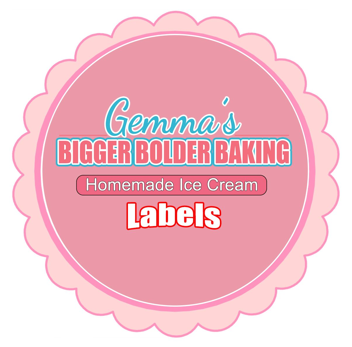 Homemade Ice Creams Labels Template | Label templates, Homemade ice ...
