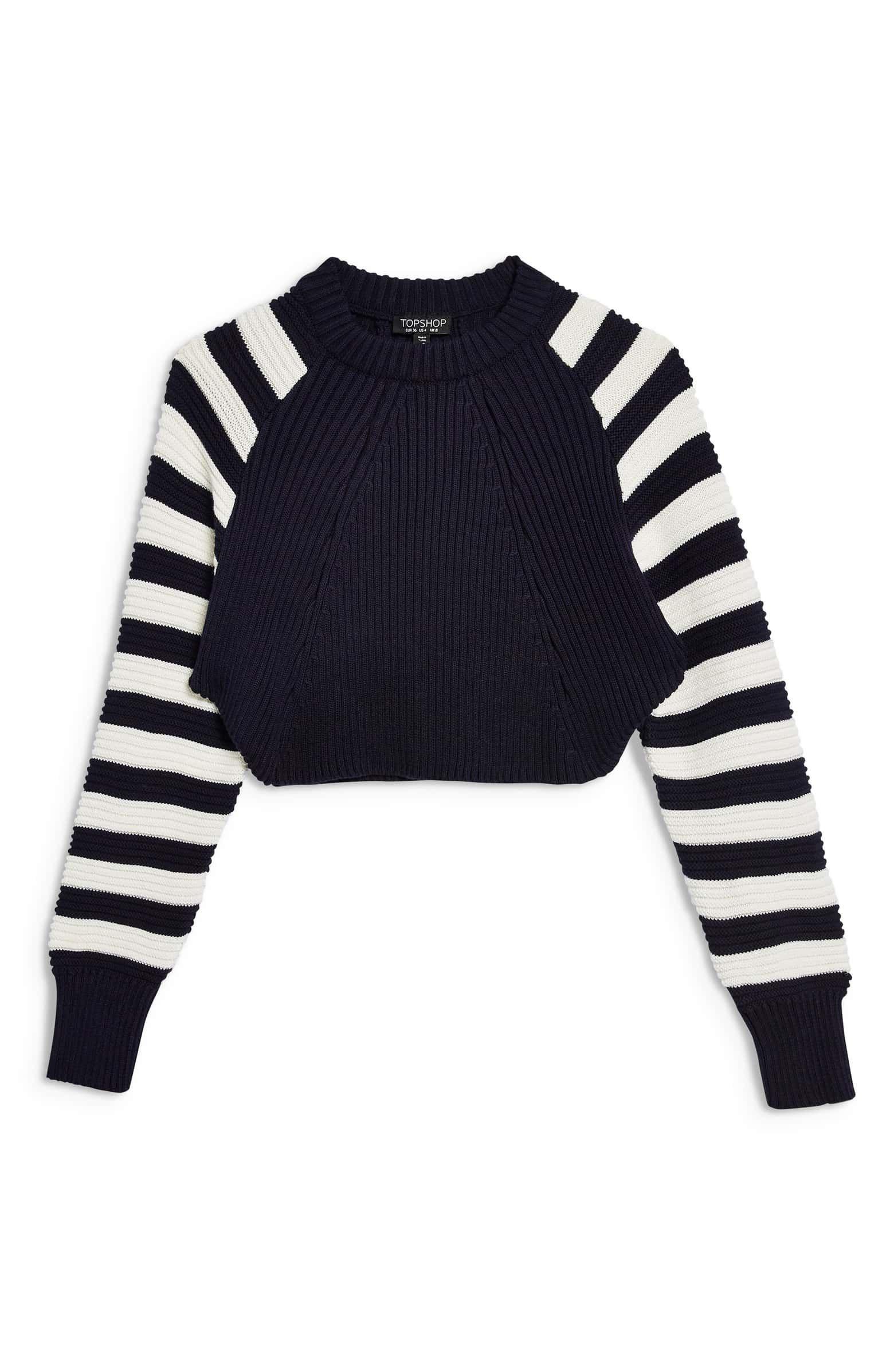 Super Crop Sweater, Alternate, color, NAVY BLUE MULTI
