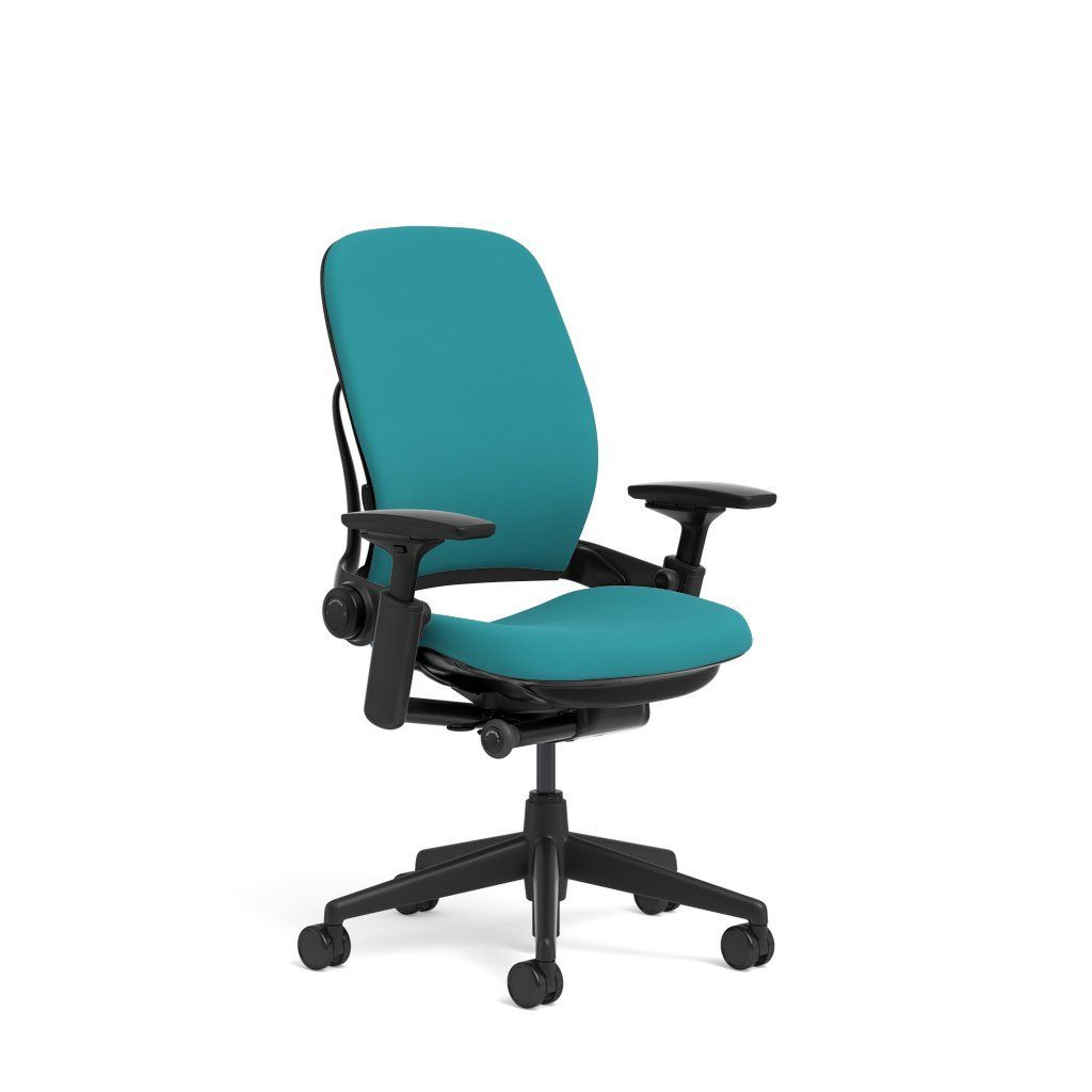 Fauteuils Steelcase Steelcase Leap Task Chair Black Base 4d Adjustable Arms No