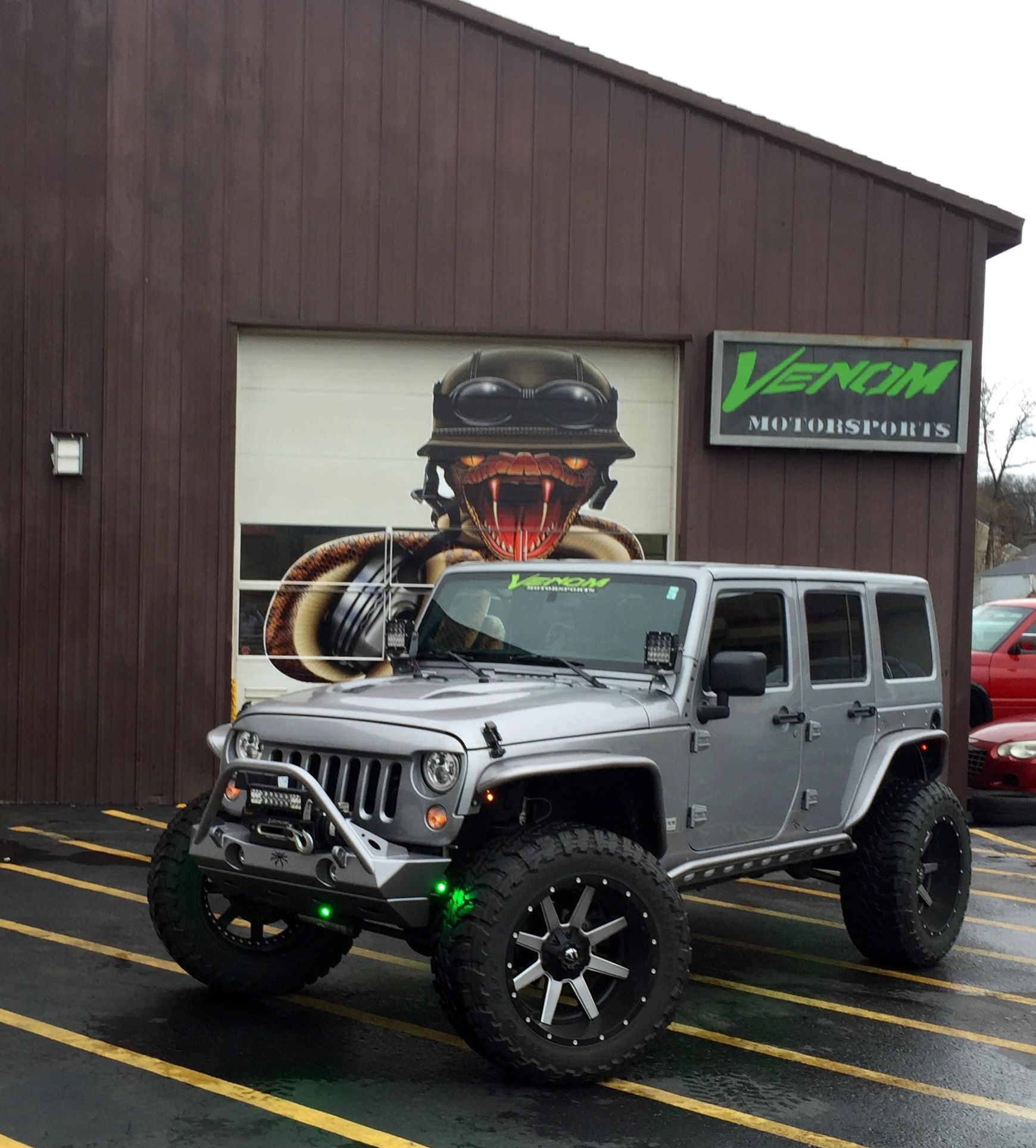 Custom Jeep Wrangler By Venom Motorsports Grand Rapids Michigan Financing Available 616 635 2519 Custom Jeep Jeep Cars Jeep Wrangler