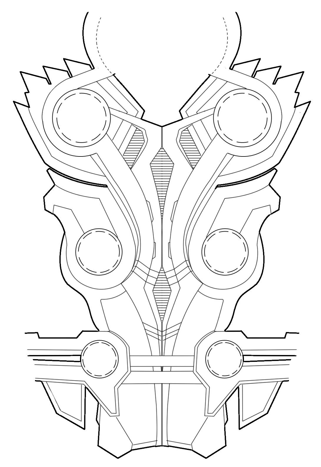 Thors Chest Armor Diagram For Rule S Thor Cosplay Feel