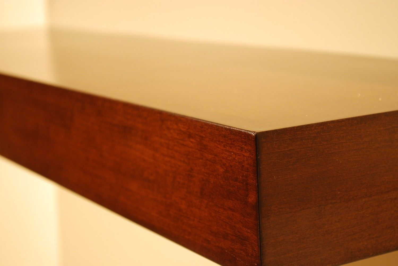 24 X 10 X 3 Floating Wood Shelves Wall Shelf Walnut Color