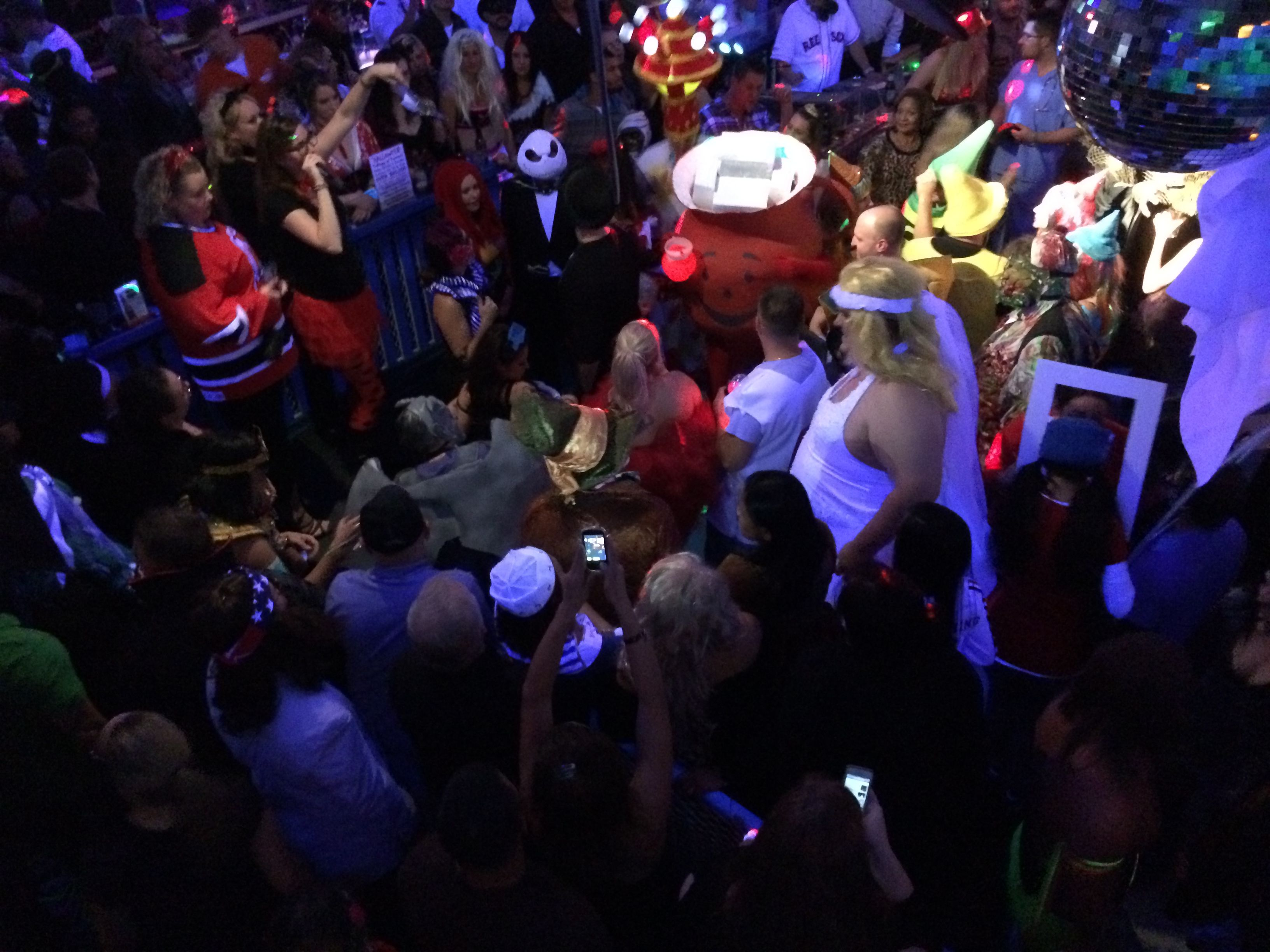 Kool Aid Man Partying With His Kool Fans Homemade Costumes Man Party Kool Aid Man