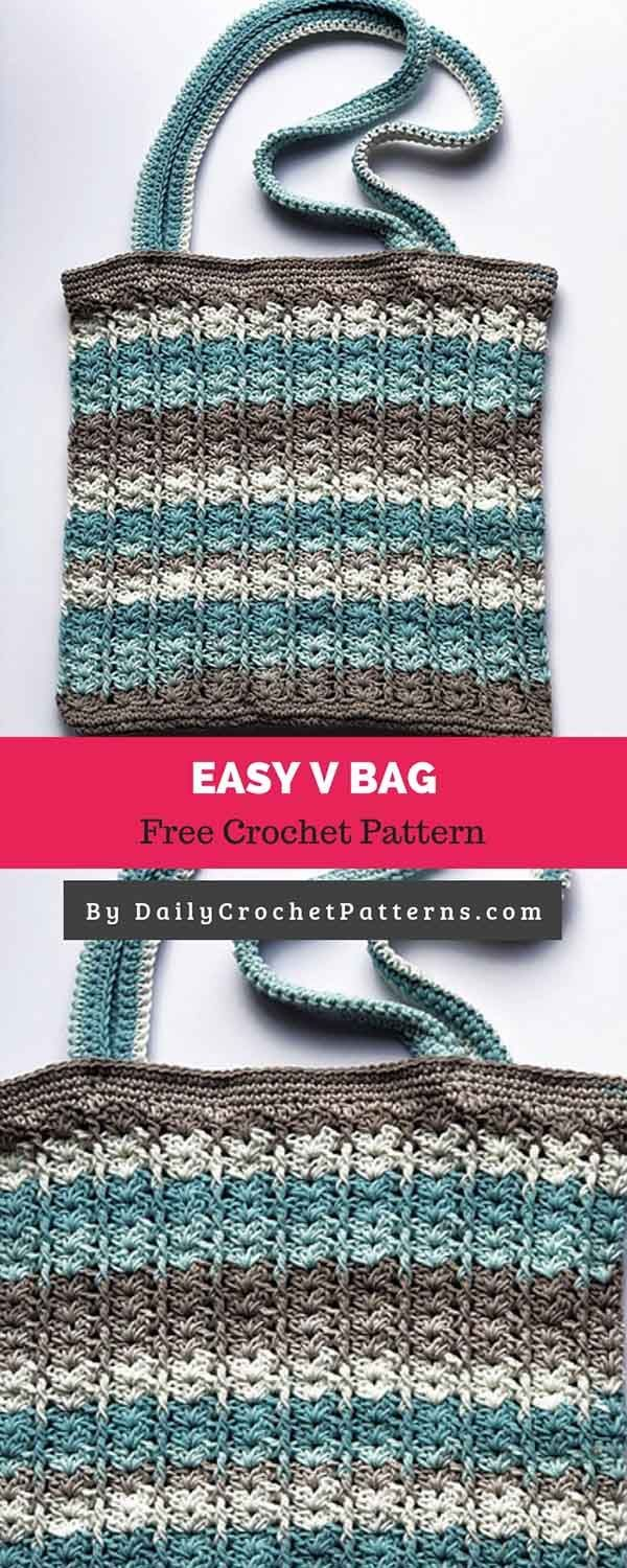 Easy V Bag [FREE CROCHET PATTERN
