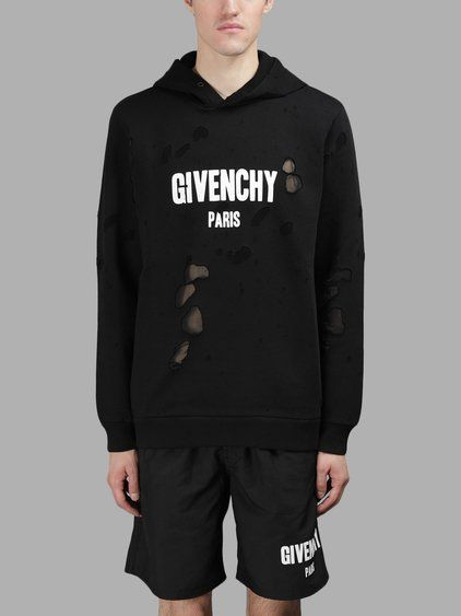 c705fff81a32b GIVENCHY Givenchy Men S Black Destroyed Hoodie.  givenchy  cloth  sweaters