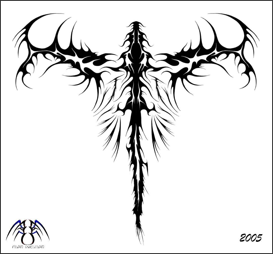Tribal Dragon Back Design Tribal Tattoo Ejderha Dovmeleri Dovme Tasarimlari