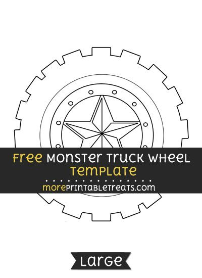 Free Monster Truck Wheel Template  Large  Shapes And Templates
