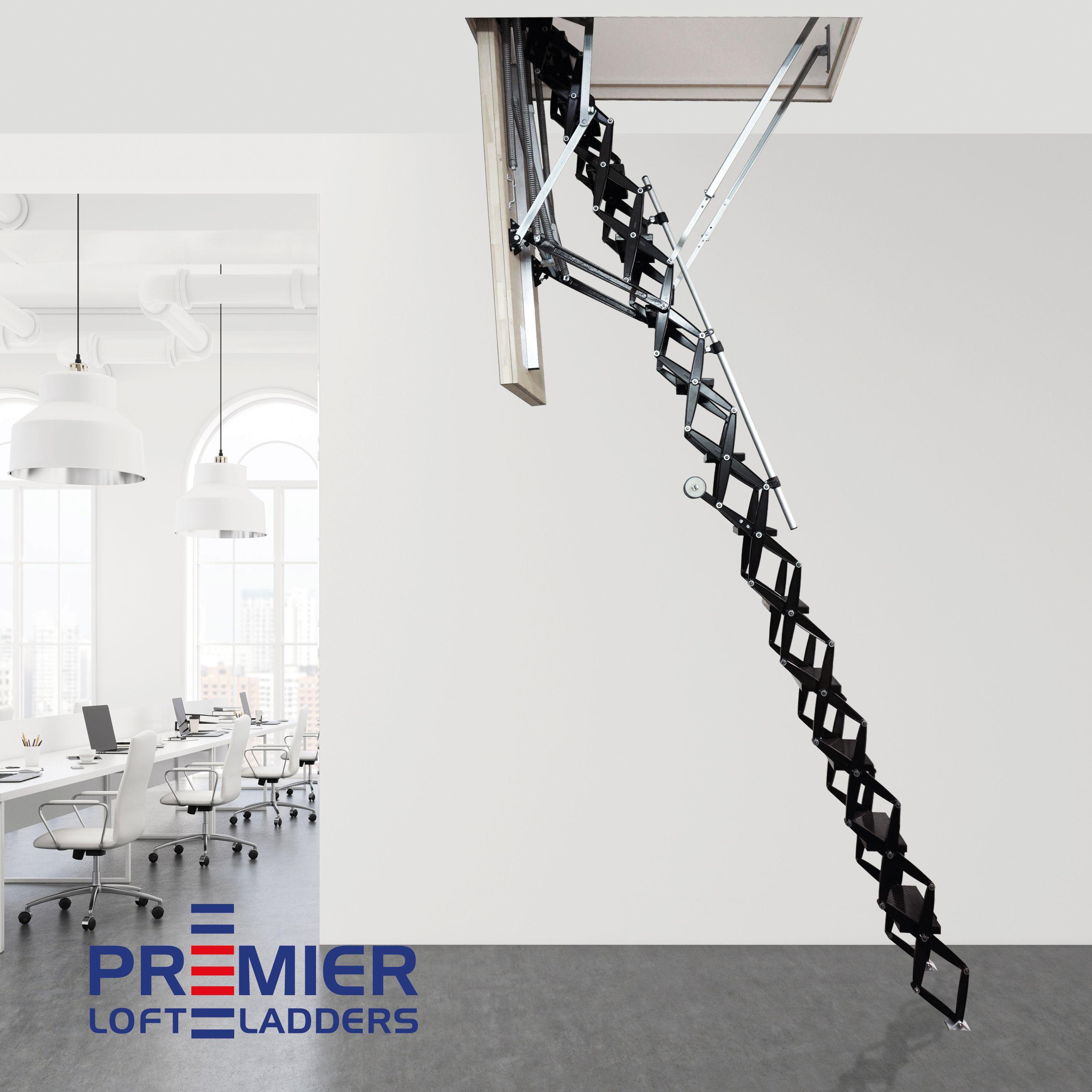 Electric loft ladder heavy duty commercial grade loft