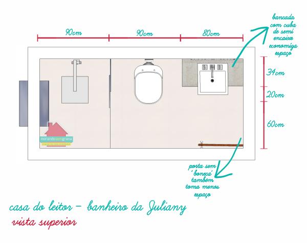 Projetos banheiros pequenos medidas