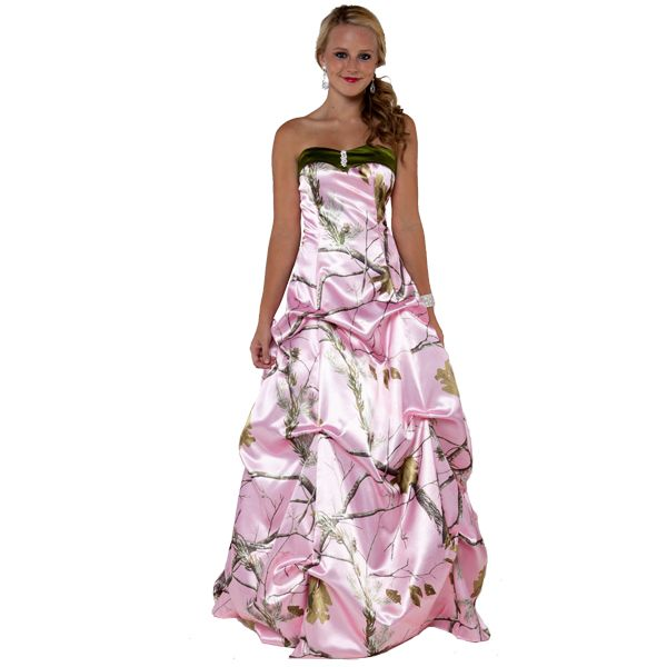 pink realtree bridesmaid dress | Home / Merchandise / Camo Formal ...