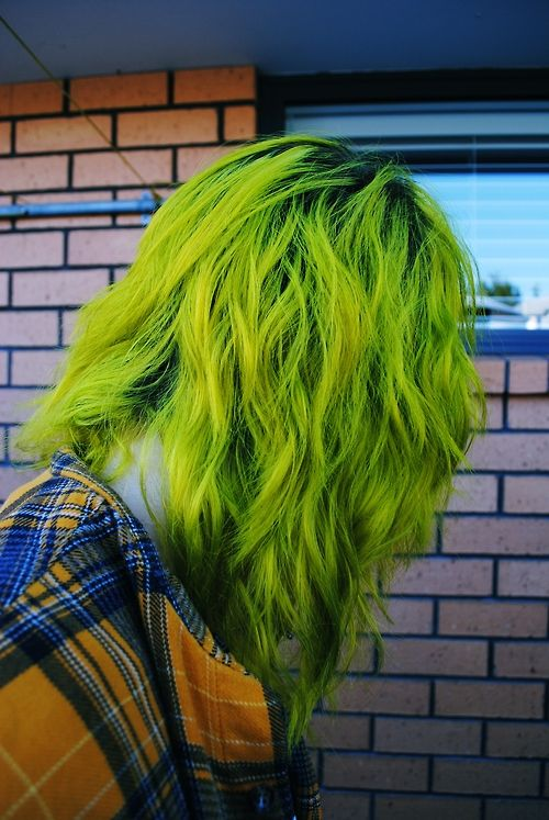 Love this shade of lime green, can't wait to dye my hair again