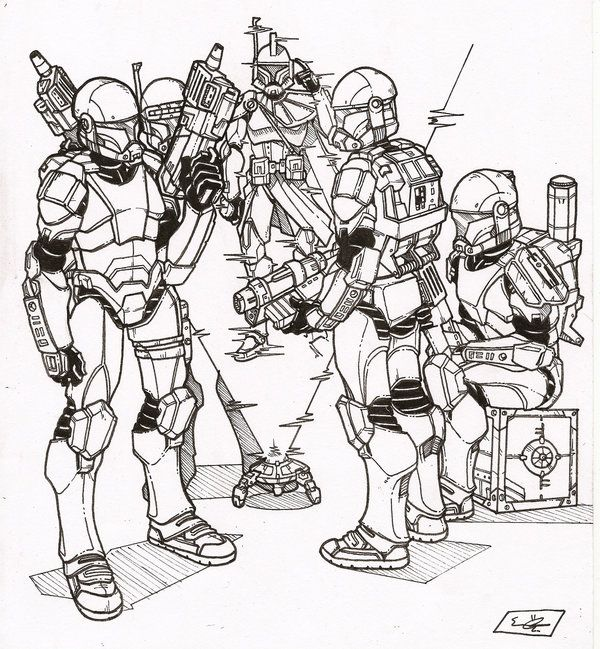 Clone Mando Coloring Pages Coloring Pages
