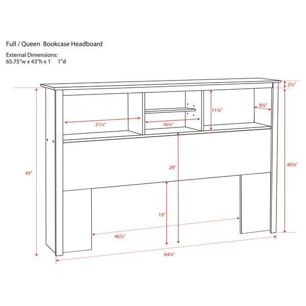 Winslow White Full/Queen Bookcase Headboard | Bedroom | Pinterest