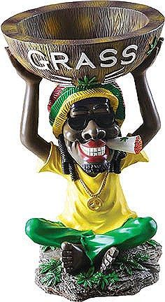 "18"" Tall Large Jamaican Ashtray"