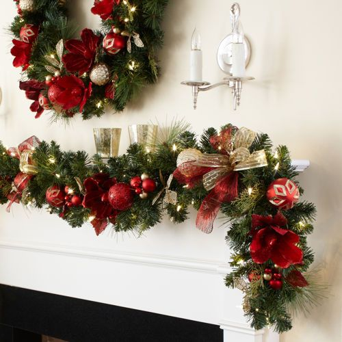 Kirkland Signature 9 Pre Lit Decorated Garland With 90 Led Lights