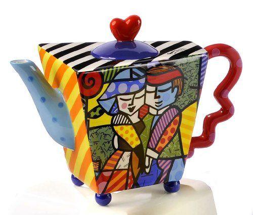 Collectible Teapots | Romero Britto Collectible Couple Dance Teapot