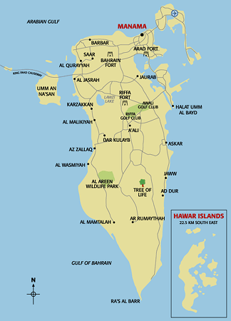 Bahrein Map Bahrain Pinterest