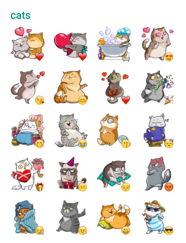Cats Sticker Pack Telegram Stickers Funny Stickers Cat Stickers Telegram Stickers