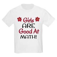 Girls ARE good at math! This is another shirt I made for my daughter for a Christmas gift!