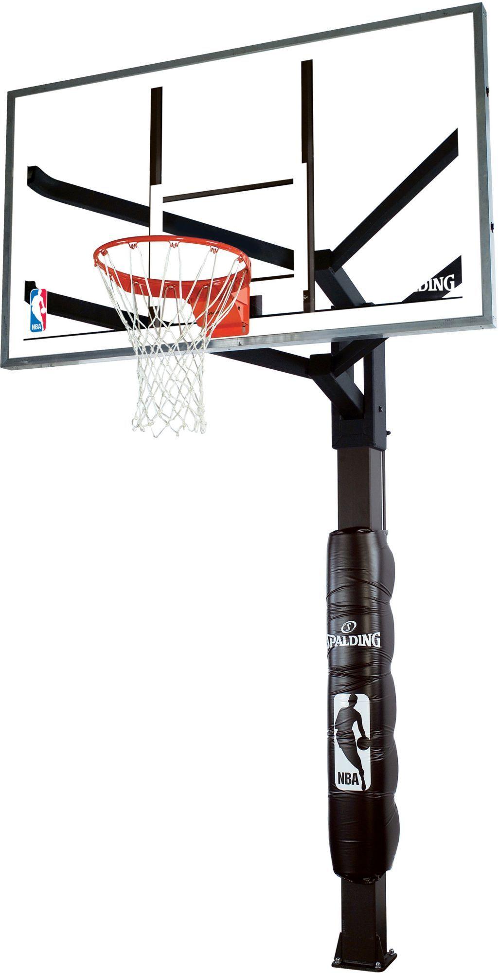"Spalding 60"" Glass Arena View InGround Basketball Hoop"