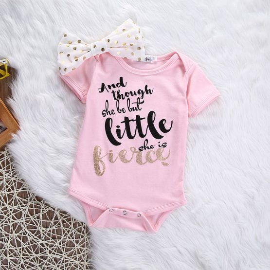 0d79818d3 Fierce Pink Statement Onesies for Babies | Akila's stuff | Toddler ...