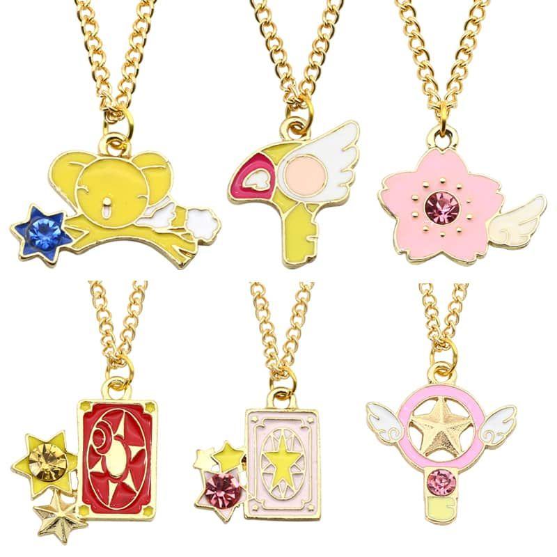 Anime CARDCAPTOR SAKURA Necklace/&Keychain Cute Pendant Lovely Card Captor+box