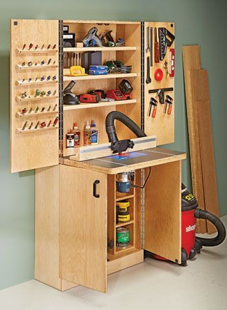 Router Table Wall Cabinet Woodsmith Plans Armario Para