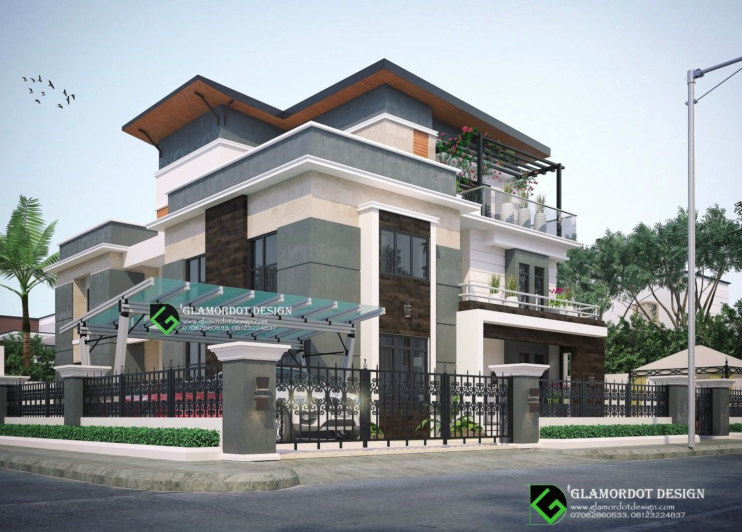 5 bedroom contemporary duplex with pent house