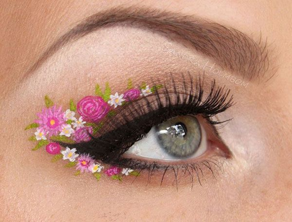 25 Coolest Floral Makeup Looks With Images Flower Makeup