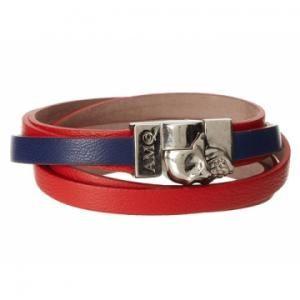 Leather · Alexander McQueen - Double Wrap Bracelet Magnet Skull ...